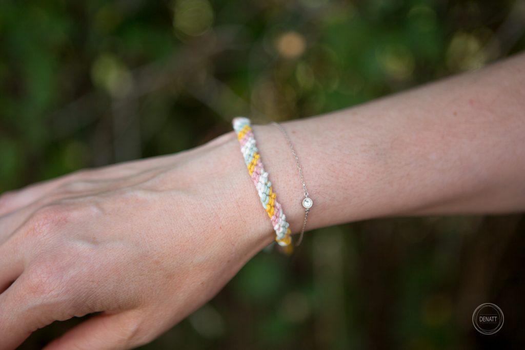Souvenir de baptême bracelet macramé