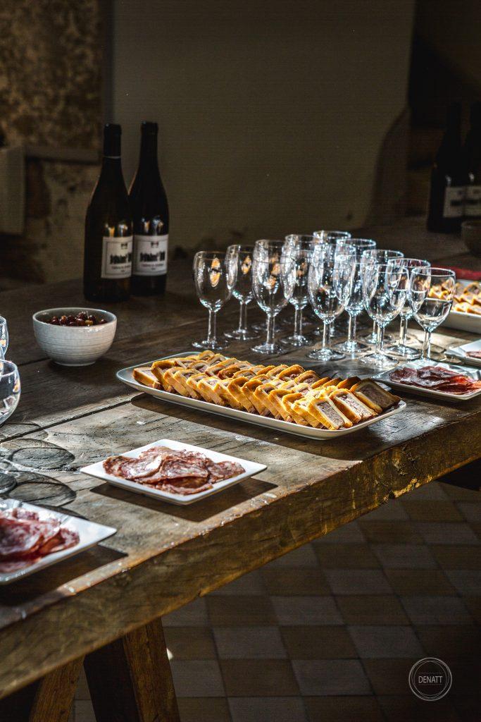 Détail buffet dégustation chateau de Meillant