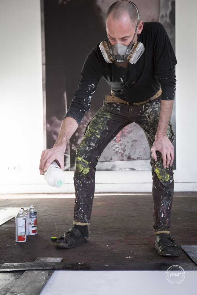 L'artiste en pleine création, Sylvain Polony