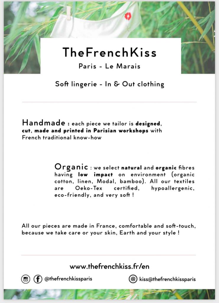 Flyer publicitaire pour la marque TheFrenchKiss
