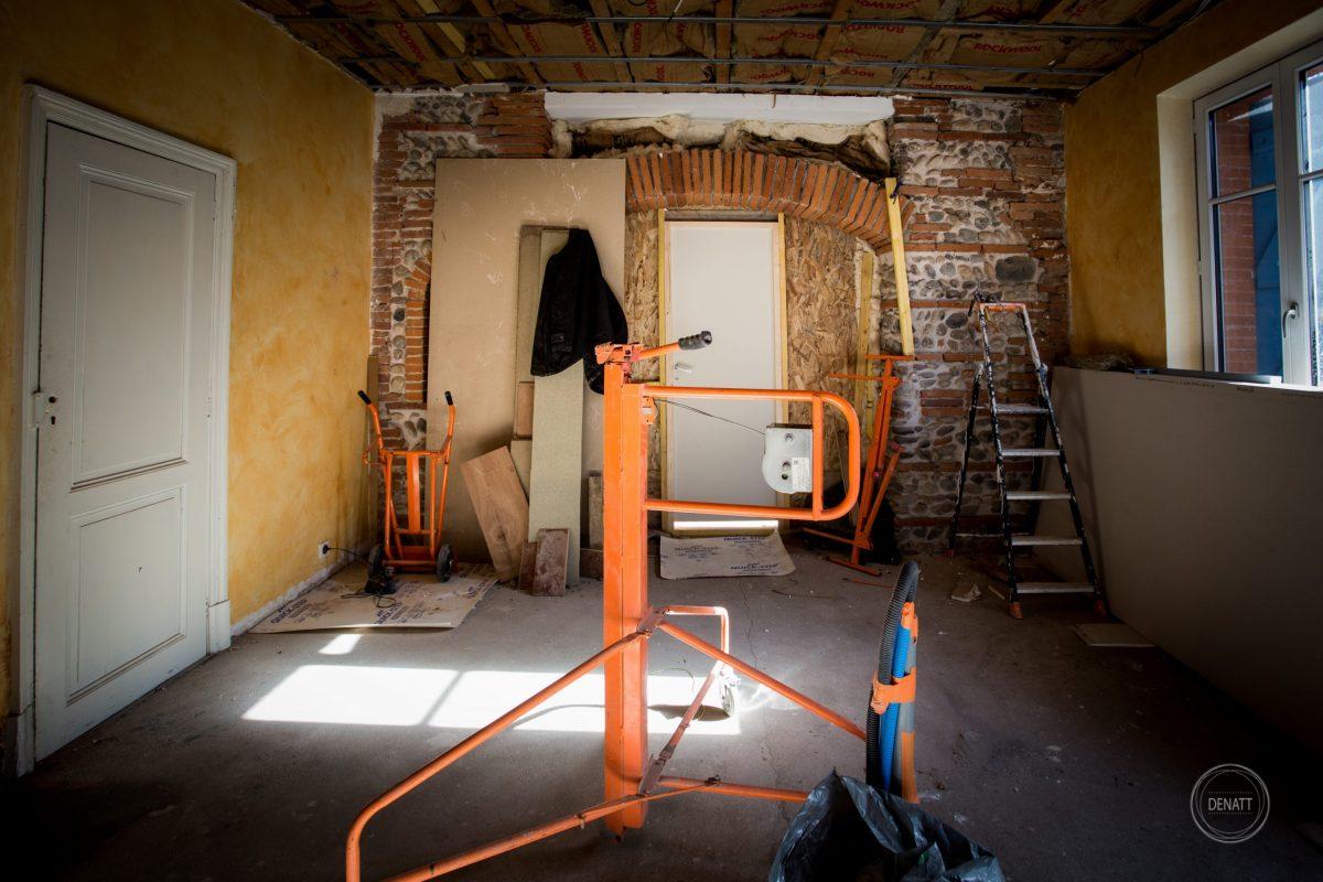 Chantier rénovation maison d'habitation 31
