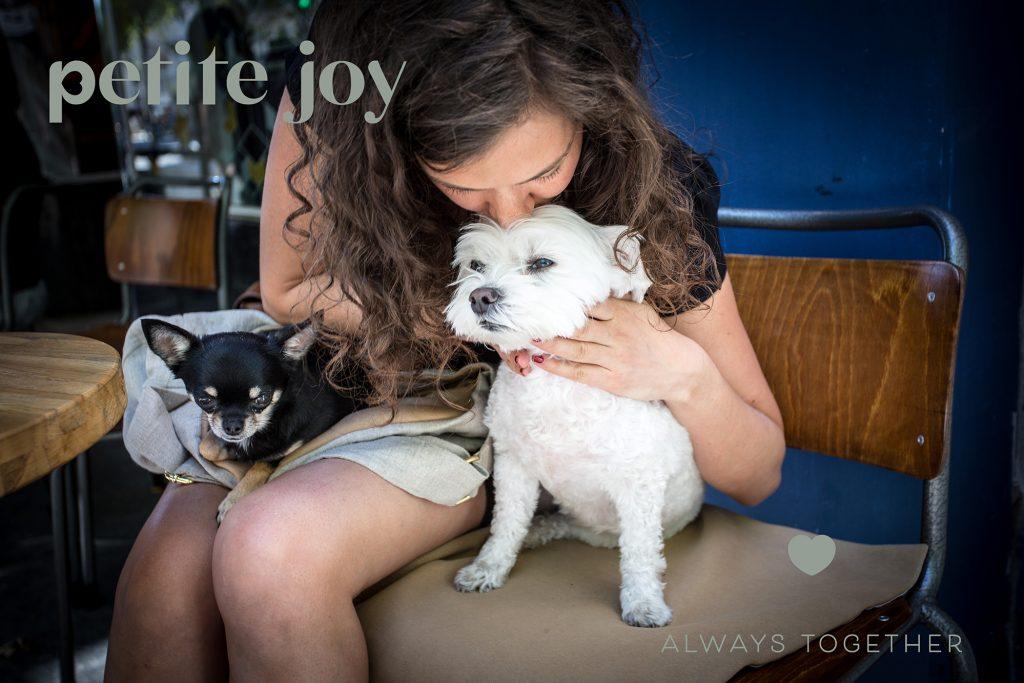 photo ambiance avec créatrice de la marque petite joy, pour petits chiens à Paris